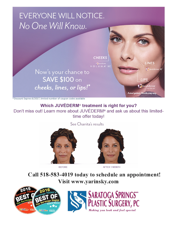 Juvederm Specials from Saratoga Springs Plastic Surgery