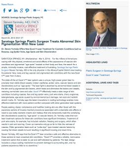dr steven yarinsky, saratoga springs plastic surgeon, excel v